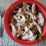 chicken salad with corn and avocado