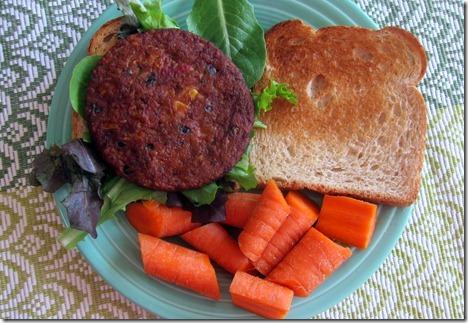 morningstar farms spicy black bean burger sandwich