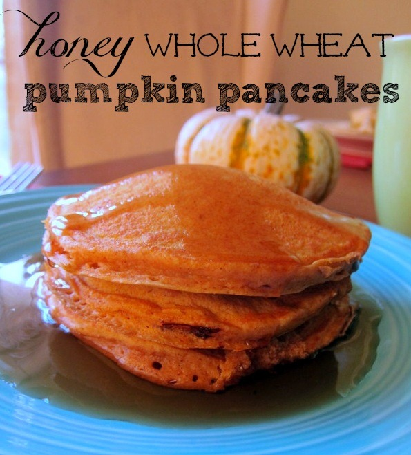 Honey Whole Wheat Pumpkin Pancakes | Peanut Butter Fingers
