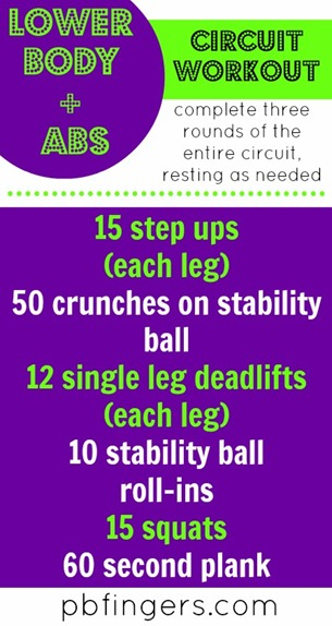 Lower Body   Abs Circuit Workout