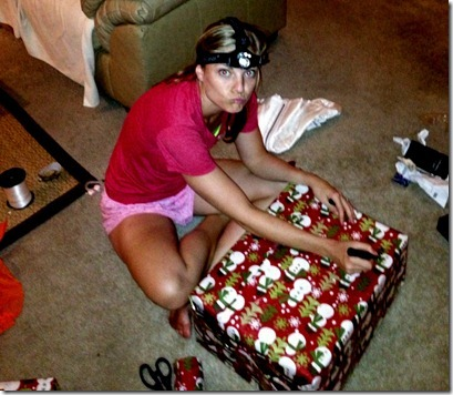 headlamp wrapping presents