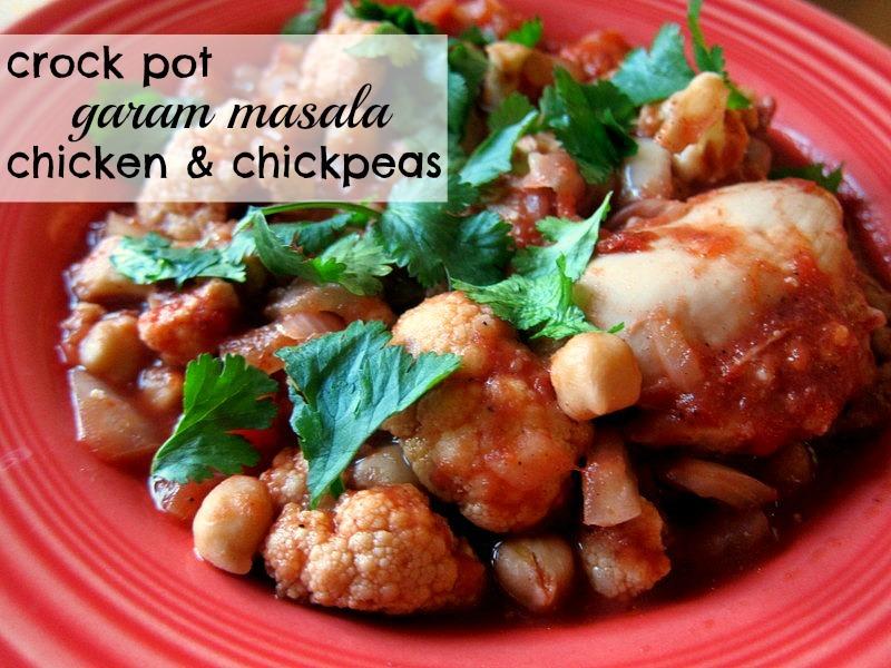 Crock Pot Garam Masala Chicken & Chickpeas - Peanut Butter Fingers