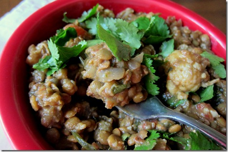 Crock Pot Lentils with Curry