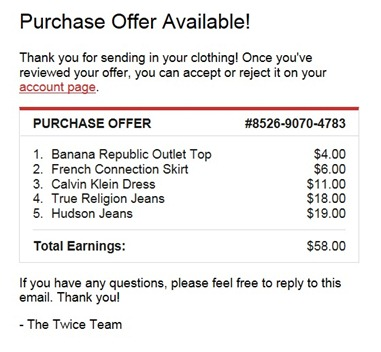 Offer from Twice
