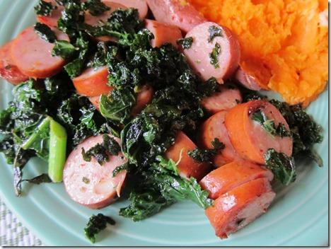 kale and sausage