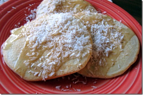 pancakes with coconut