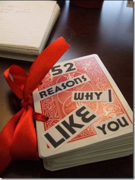 52 Reasons Why I Love You Deck of Cards