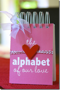 Alphabet Of Our Love Book for Valentine's Day