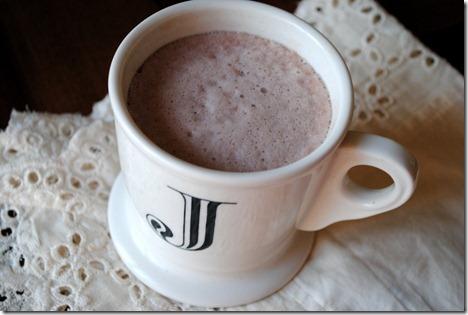 Chocolate almond milk foam