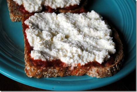 Pizza Toast with Ricotta Cheese