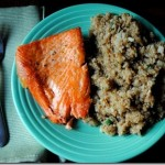 Salmon with Quinoa Fried 'Rice'