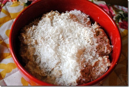 oats with coconut