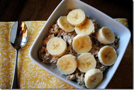overnight banana oatmeal