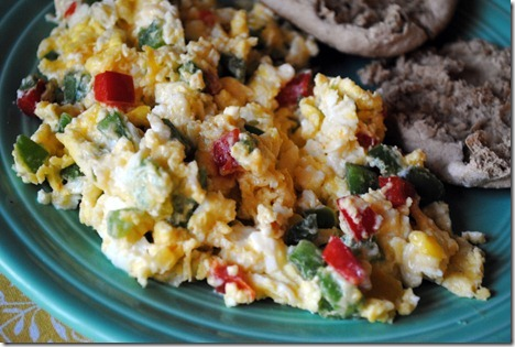 peppers and scrambled eggs