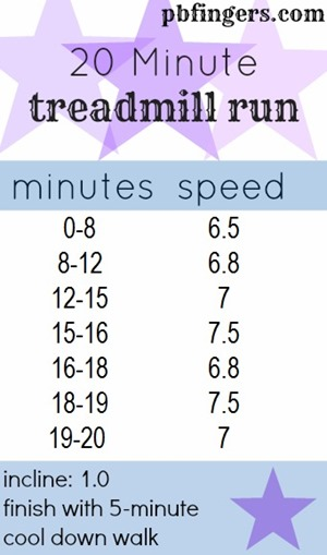 20 Minute Treadmill Run Workout