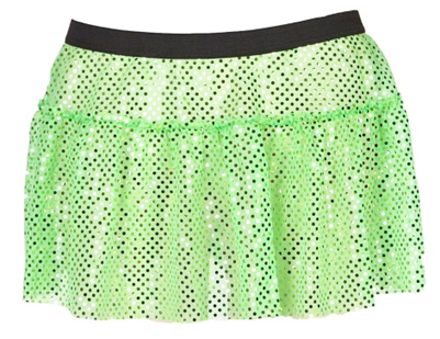 Green sparkle running skirt