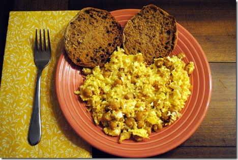 eggs with chickpeas