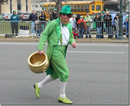 running leprechaun st patrick's day
