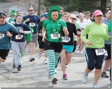 running st patrick's day