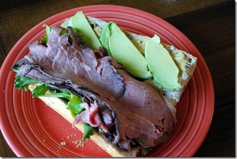 sub sandwich roast beef