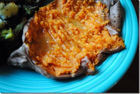 sweet potato with kerrygold butter