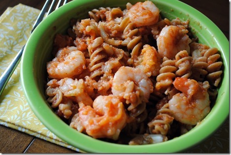 whole wheat pasta cauliflower shrimp