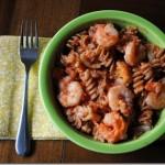 whole wheat pasta shrimp