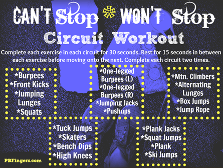 Can't Stop Won't Stop Circuit Workout