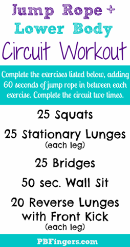 Jump Rope Lower Body Workout