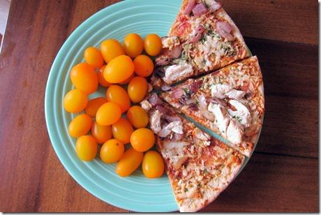 Kashi BBQ chicken pizza