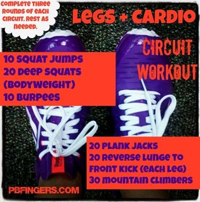 Legs   Cardio Circuit Workout