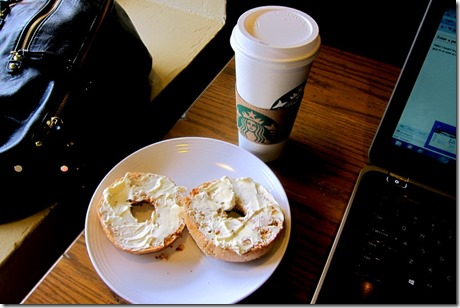 Starbucks Cappuccino and Multigrain Bagel