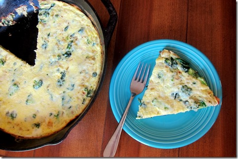 Broccoli Cheese Frittata | Peanut Butter Fingers