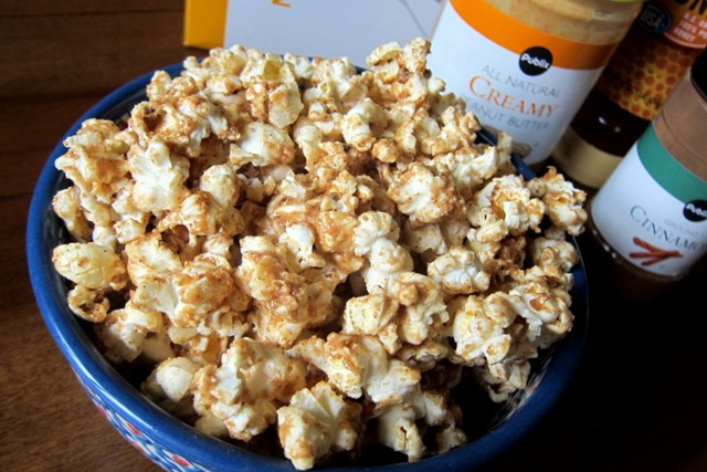 Cinnamon Peanut Butter Popcorn - Peanut Butter Fingers