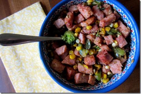 Ham Corn Sautee