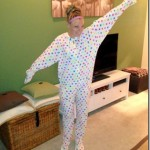 Polka Dot Footie Pajamas Onsie