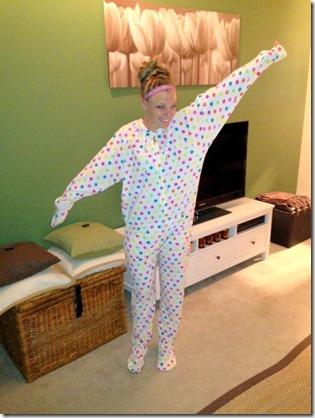 Polka Dot Footie Pajamas Onsie