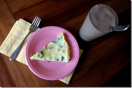 Smoothie and Frittata