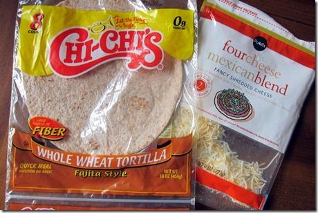 Tortilla and cheese