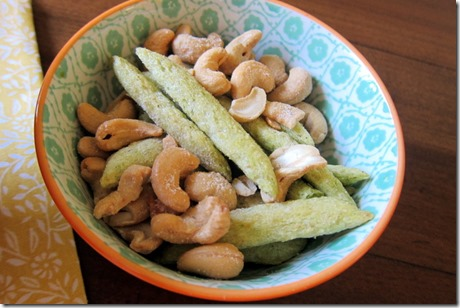 snapea crisps and cashews