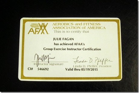 afaa group exercise certification - peanut butter fingers