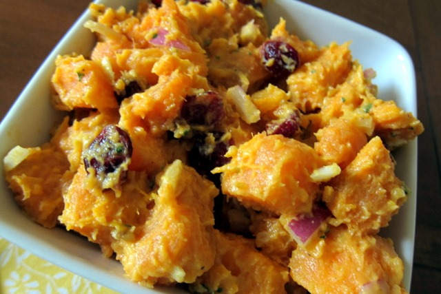 ... potatoes? No thanks. But the curried sweet potato salad was another