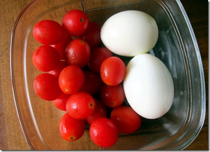 Eggs and veggies