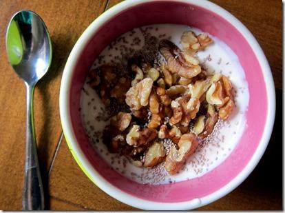 Greek Yogurt with nuts and chia seeds