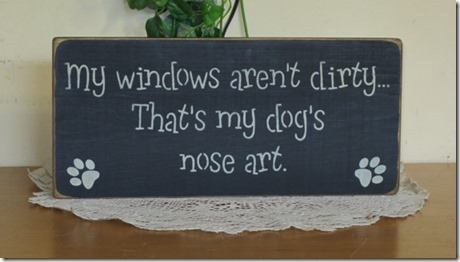 My Windows Aren't Dirty. That's My Dog's Nose Art.