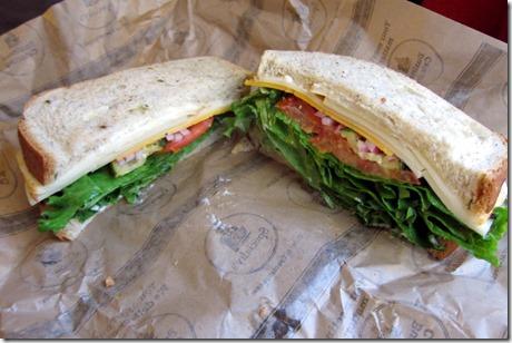 Specialty three cheese sandwich