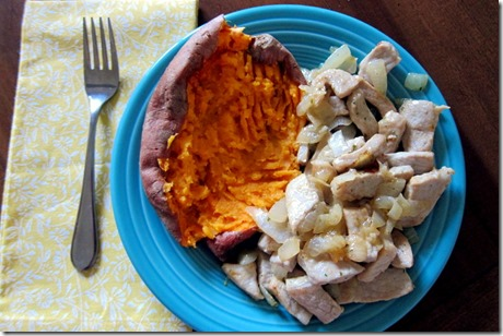 pork onion sweet potato