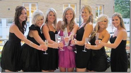 Bachelorette Party black dresses