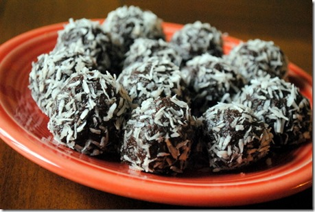 Chocolate Truffles with Walnuts and Dates
