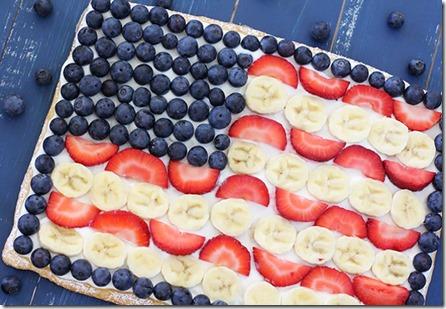 Fruit Flag Pizza